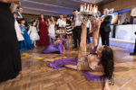 belly dancer performs at a sephardic bar mitzvah